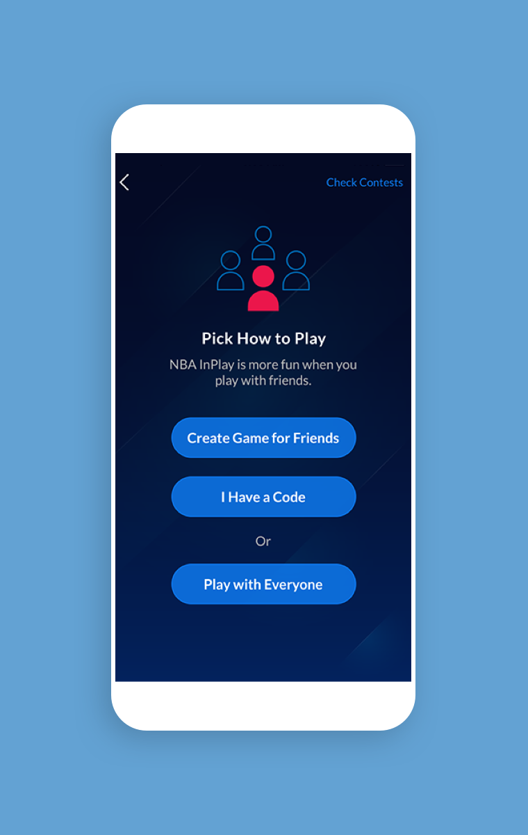 NBA InPlay - Pick how to play