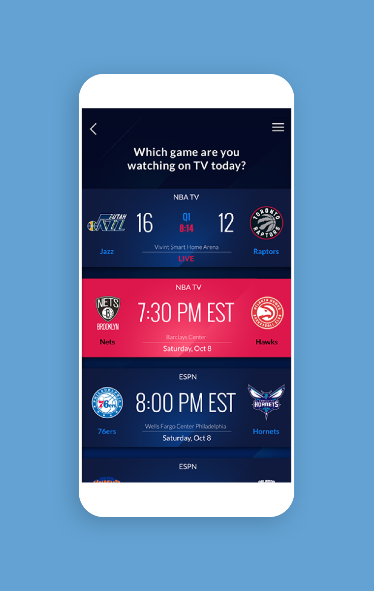 NBA InPlay - Which game are you watching