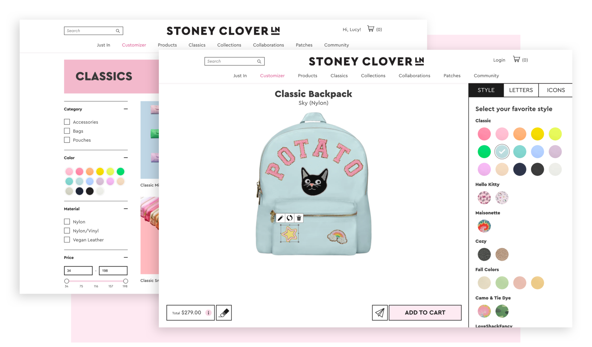 Bringing Stoney Clover Lane's in-store experience to the web