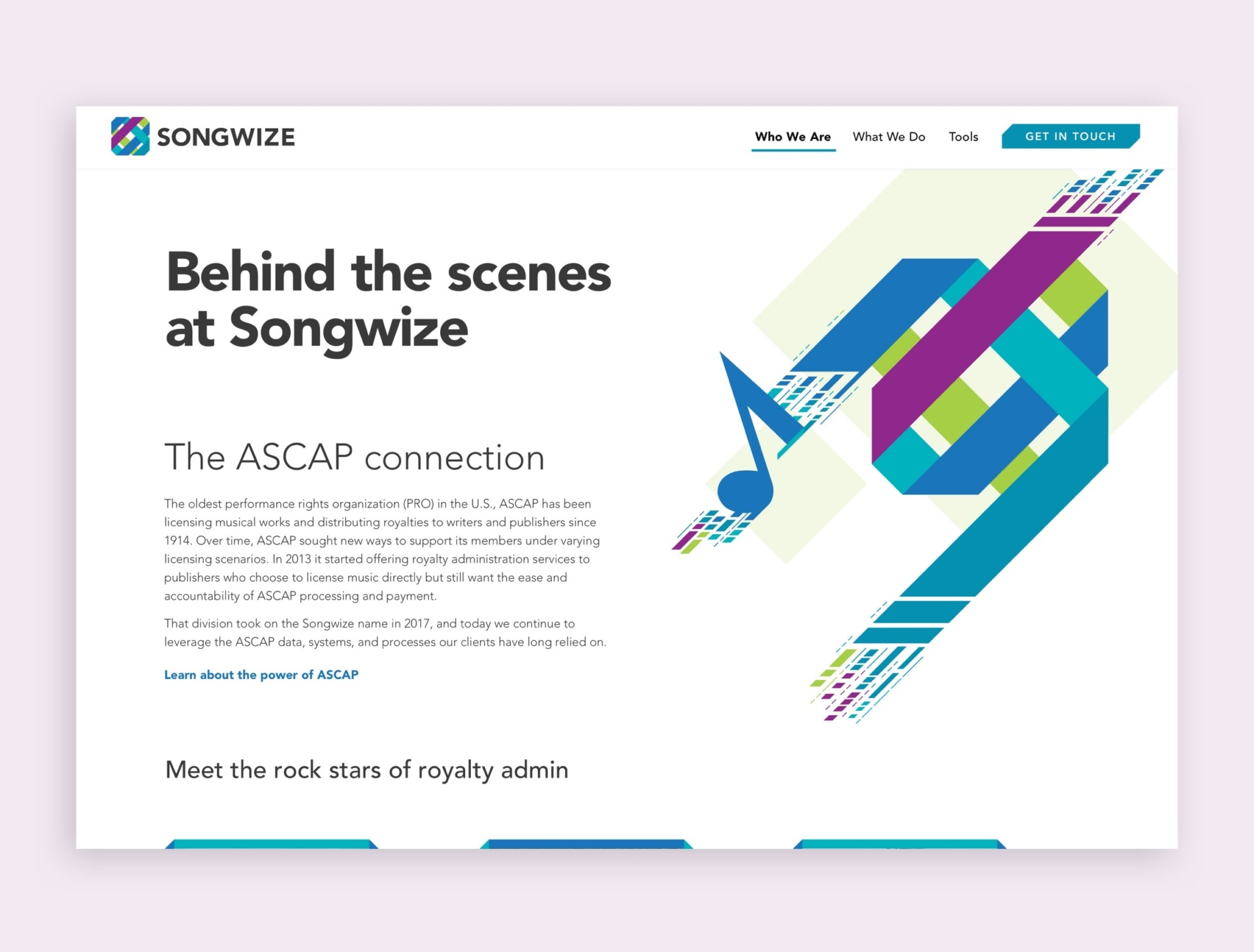 Songwize Home Screen - Behind The Scenes